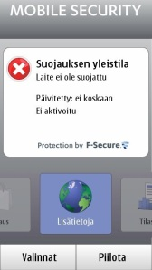A trial version of F-Secure Mobile Security comes pre-installed with the latest Symbian 3 smartphones. Some sales packages come with the anti-theft features. Usually the full service costs about 2,5 euros a month from the mobile operator.