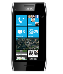 Windows Phone in Nokia E7 case. Could Nokia's WP7 Mango smartphone look like this?