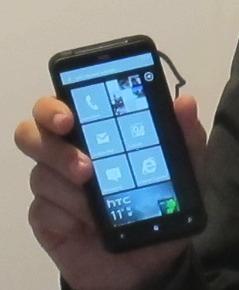 HTC Titan with Windows Phone Mango