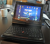 ThinkPad tablet does not have as good keyboard as their laptops, but it didn't felt bad either.