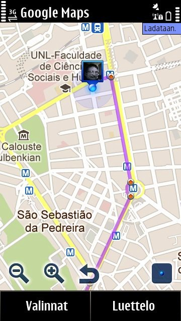 Google Maps 4.1.1 on Symbian Anna turned out to be the quickest tool for me to check distances to museums, famous sights and restaurants in Lisbon, Portugal. I also used Nokia Maps to take advantage of offline maps and compass, and the guides of Lonely Planet and TripAdvisor reviews.