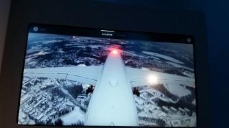 Finnairin A350:n IFE:n hauskin ominaisuus oli minusta peräsimen kamera, jota voi seurata koko lennon ajan.