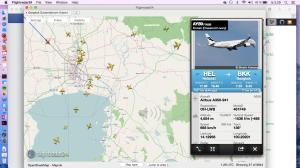 AY89 lähestyy Bangkokia