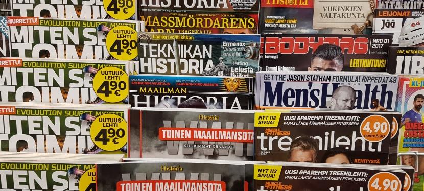 Paljon lehtiä, hyvinpiilotettuna