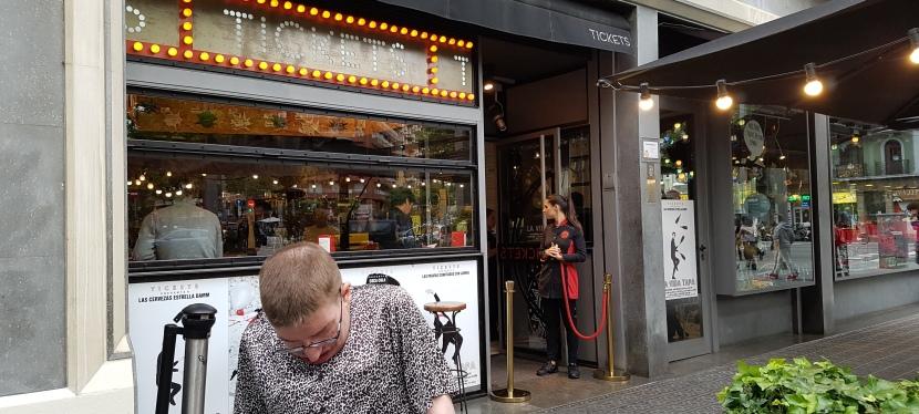 Barcelona-ruokamatka: Päivä 1:Tickets