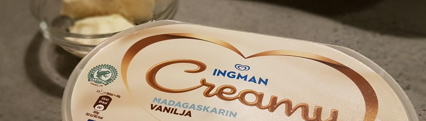 Ingman Creamy -valiojäätelö