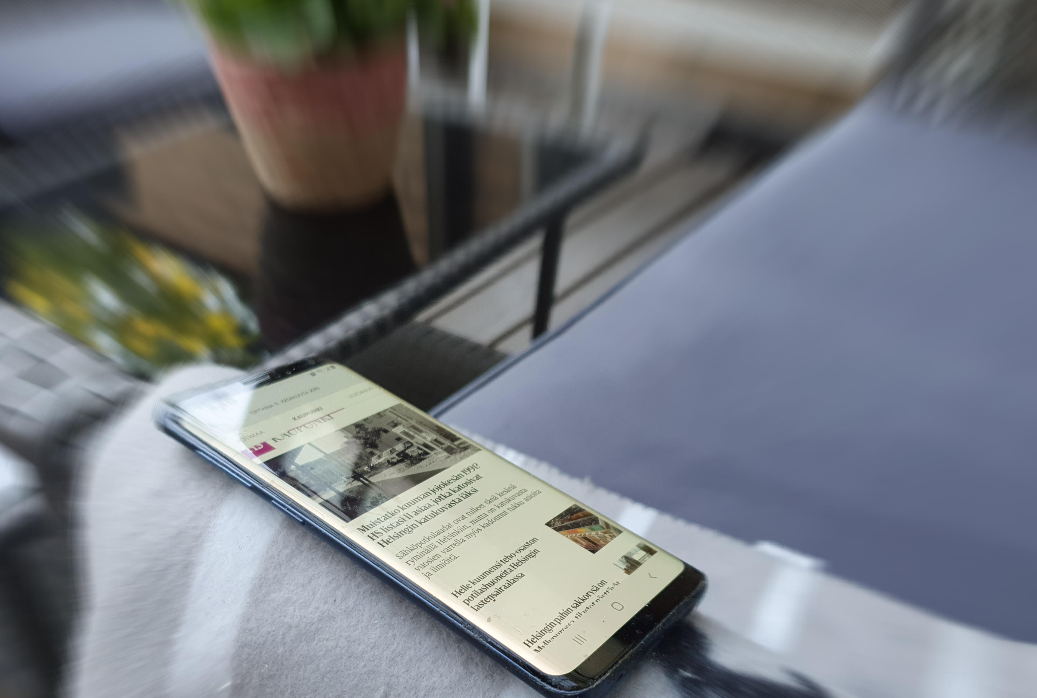HS:fi-mobiili pihalla